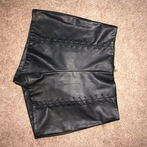 Charlotte Russe fo leather high waisted shorts.